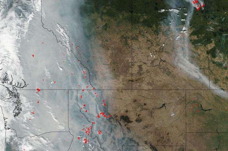 Smoke lingers over western U.S. and Canada