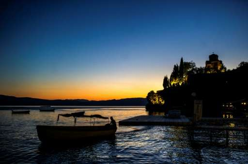 St John Kaneo Church on Lake Ohrid in Macedonia, an area environmentalists say is under threat from multiple development plans