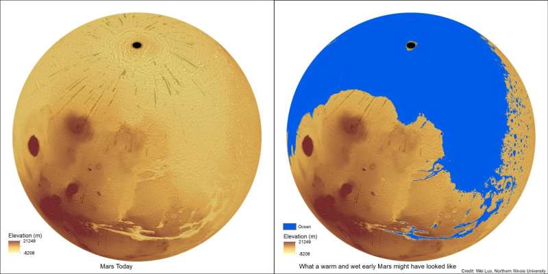 Study estimates amount of water needed to carve Martian valleys