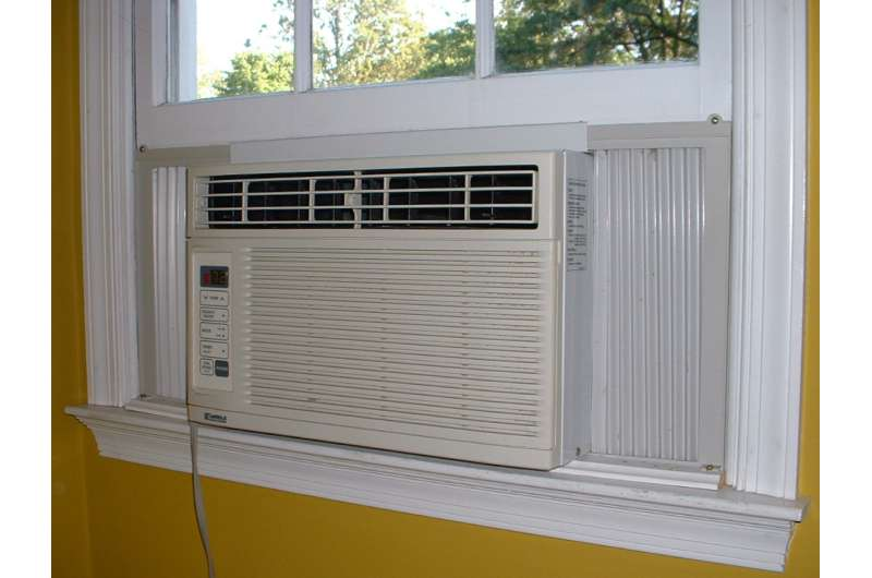 Study measures air pollution increase attributable to air conditioning