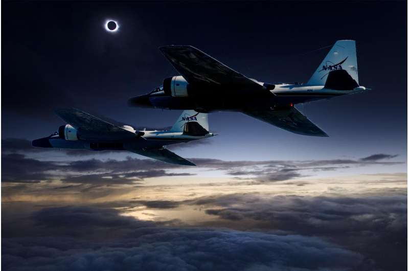 Team uses airborne telescopes to study Sun and Mercury during total solar eclipse