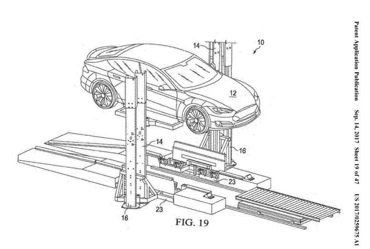 Tesla patent talk: A battery-swapping system