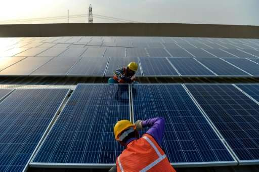 """The birth of a """"new era"""" in solar power is driving growth in the renewable energy sector as a whole, the International"""