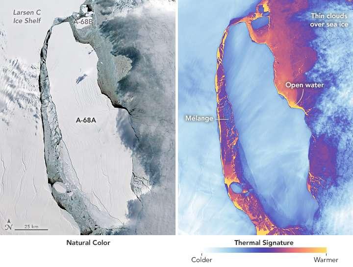 The calving of a massive iceberg from the Larsen C ice shelf