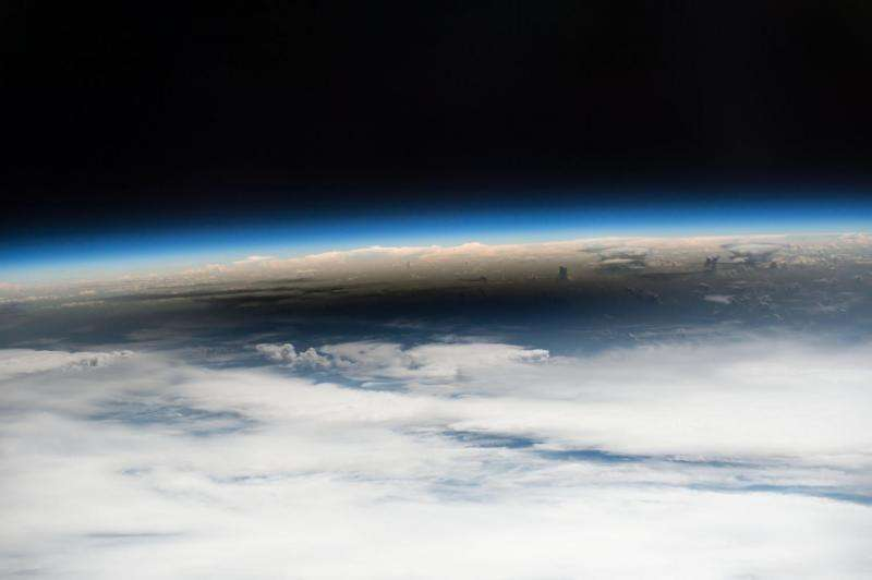 The eclipse 2017 umbra viewed from space
