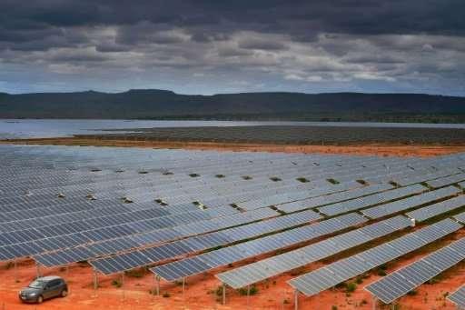 The EDF Energies Nouvelles solar plant in Pirapora, Minas Gerais state, Brazil, will be Latin America's largest solar power faci