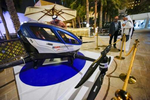 The electric EHang 184 can travel at 100km per hour at 300m above the ground, the Dubai transport authority says