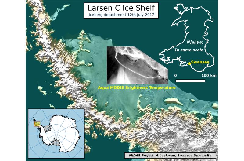 The one trillion tonne iceberg -