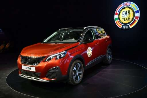 The Peugeot 3008 was elected European Car of the Year 2017 at the Geneva International Motor Show in March.
