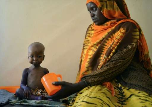 The UN has warned that the risk of mass deaths from starvation was growing among people in conflict and drought-hit areas of the
