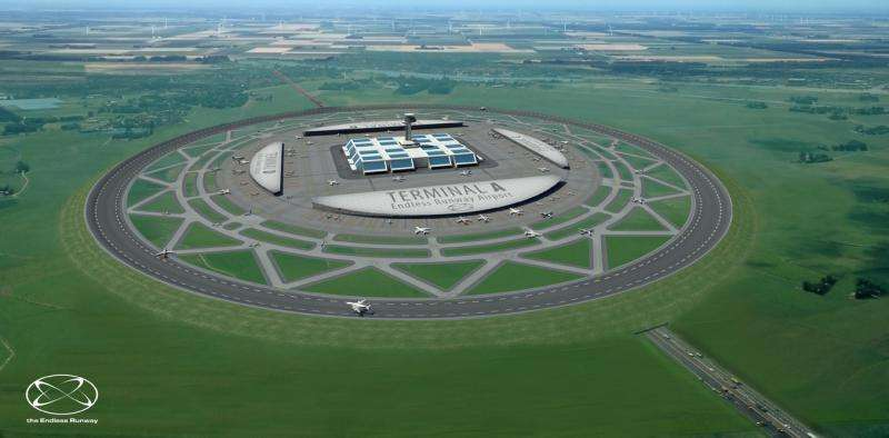 This fantastic idea for a circular runway is sadly going nowhere