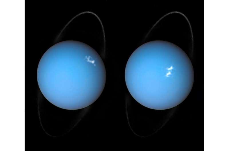 Topsy-turvy motion creates light switch effect at Uranus