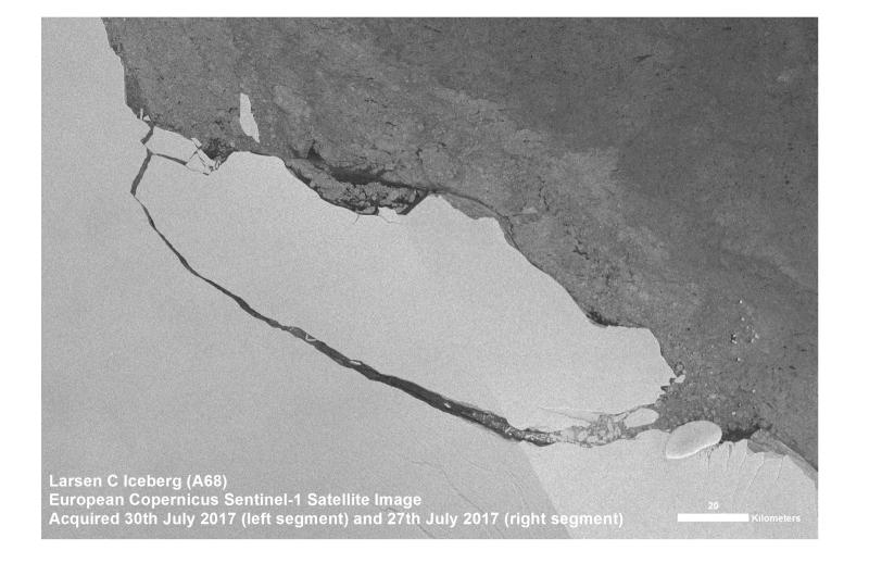 Update on the Larsen-C iceberg breakaway