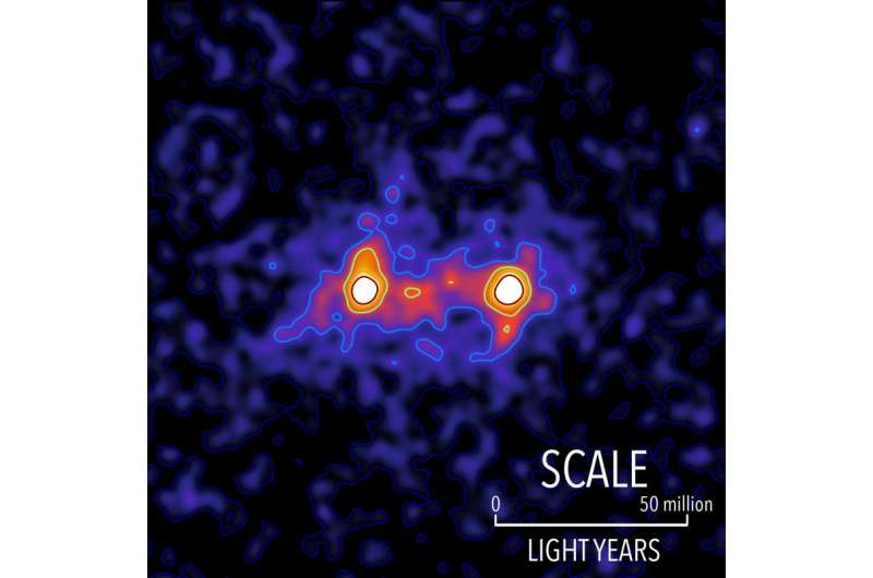 """Waterloo researchers capture first """"image"""" of a dark matter web that connects galaxies"""