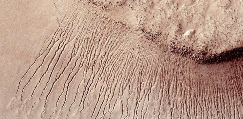 What could explain the mystery of how land formed on Mars without much water
