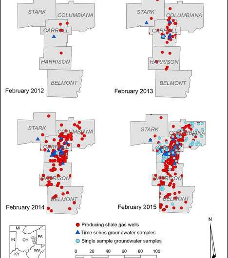 Study finds no evidence of natural gas from fracking in Ohio drinking water