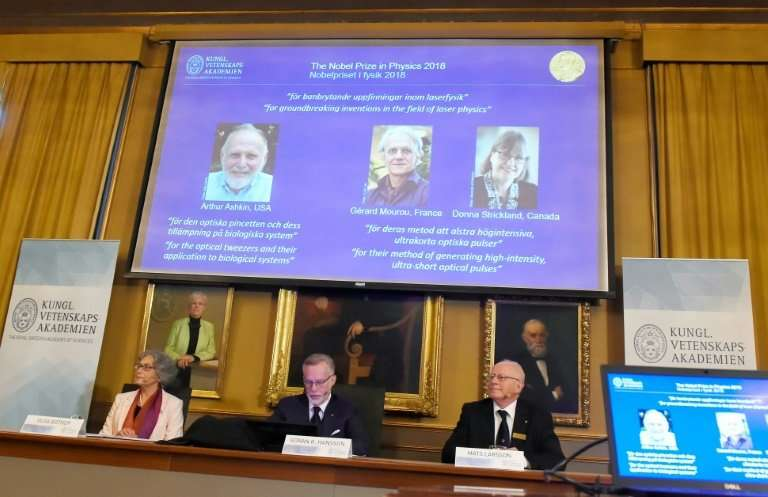 Arthur Ashkin of the US split the 2018 Nobel Physics Prize with Gerard Mourou of France and Donna Strickland of Canada