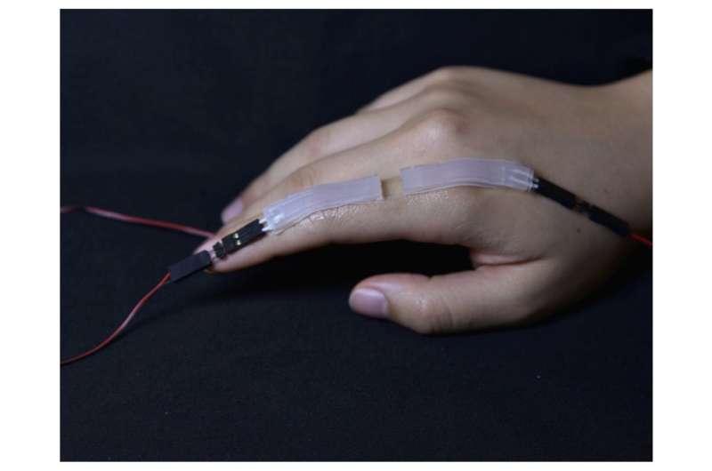 A safe, wearable soft sensor