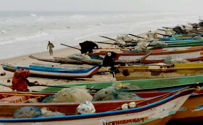 Authorities in India's Tamil Nadu had been warning fishermen since Sunday not to risk going out to sea as Cyclone Gaja approache