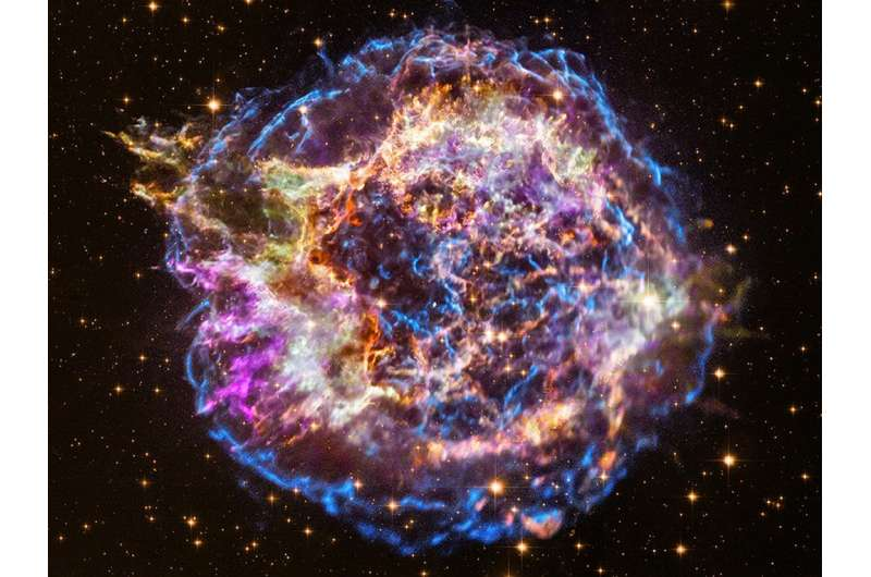 A virtual reality experience of being inside an exploded star