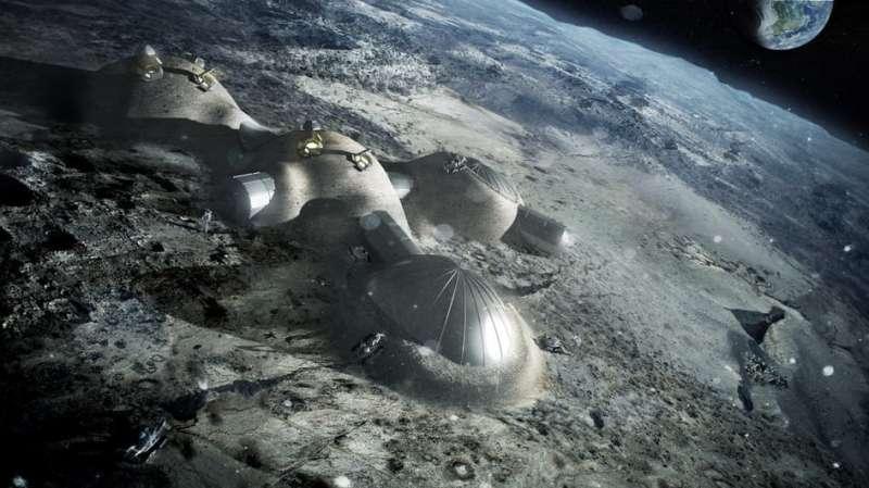 Building Bricks on the Moon From Lunar Dust