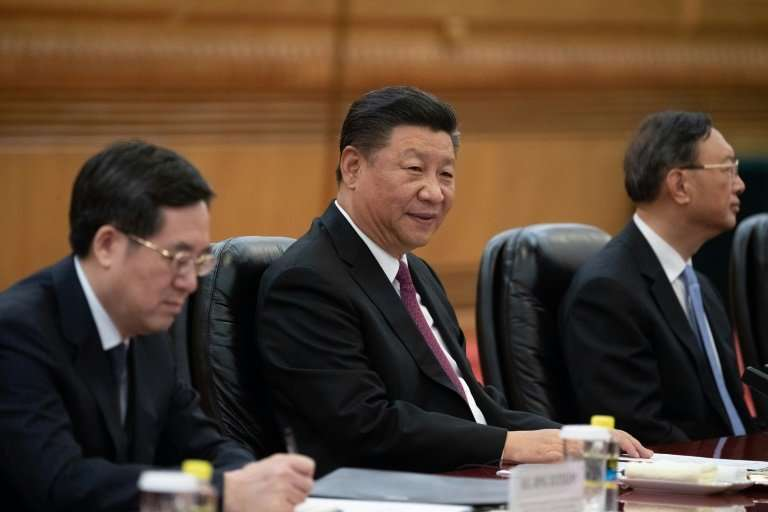 China's President Xi Jinping (C) says the initiative is 'not a China club'