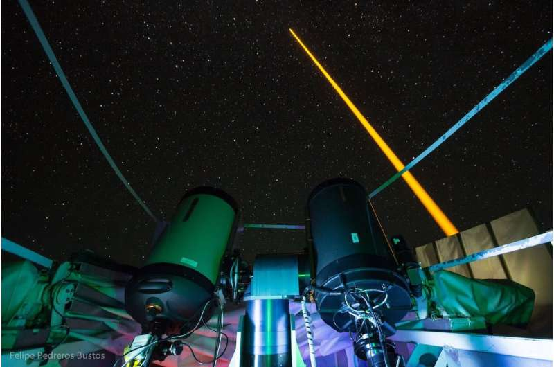 Earth's magnetic field measured using artificial stars at 90 kilometers altitude