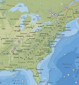 East vs. West Coast earthquakes
