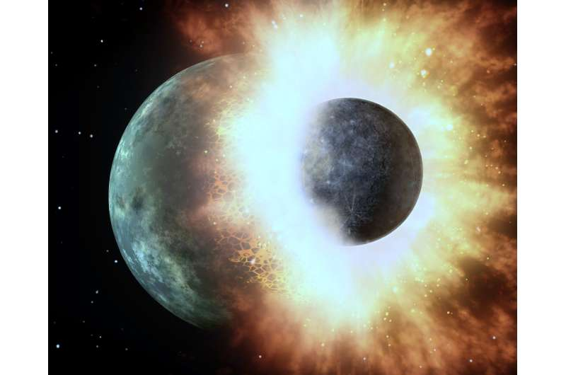 Hit-and-run heist of water by terrestrial planets in the early solar system