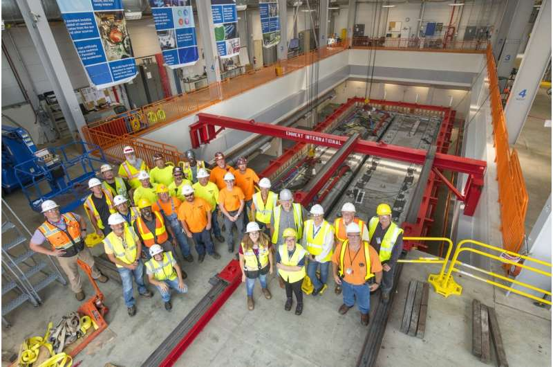 ICARUS neutrino detector installed in new fermilab home