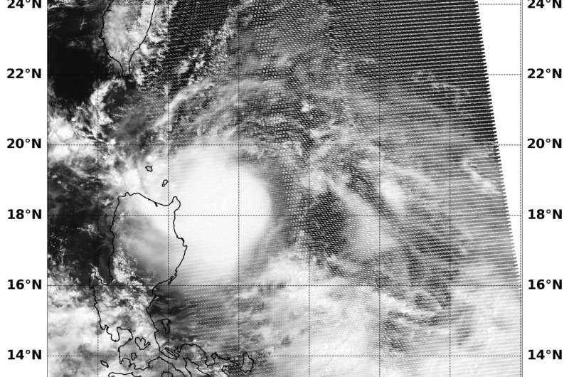 NASA catches tropical cyclone 11W passing northern Philippines
