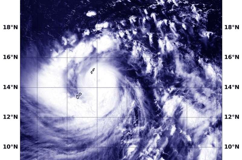 NASA finds Typhoon Mangkhut lashing Guam and the Northern Marianas Islands