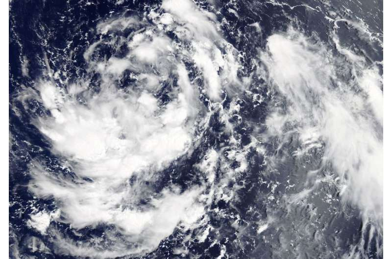NASA observes the formation of Tropical Depression 09W in Northwestern Pacific