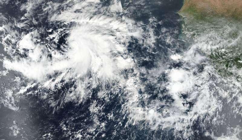 NASA sees the development of Eastern Atlantic Tropical Storm Nadine