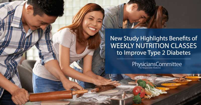 New study highlights benefits of weekly nutrition classes to improve type 2 diabetes