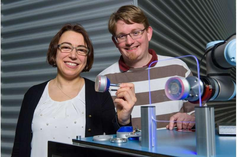 Robot-mounted vacuum grippers flex their artificial muscles