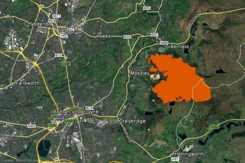 Satellites map fire on Saddleworth Moor