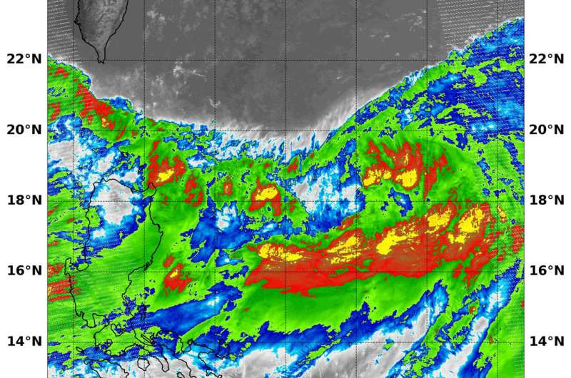 Suomi NPP satellite finds an elongated Tropical Storm Ampil