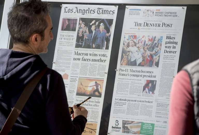 The number of employees in US newspaper newsrooms has fallen sharply over the past decade, according to a new survey