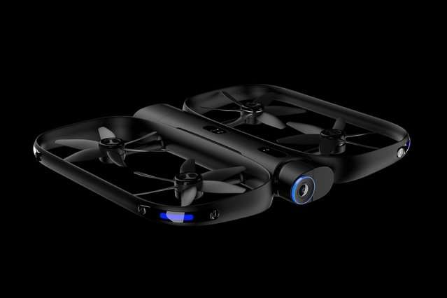 Video-capturing drone tracks moving subjects while freely navigating any environment
