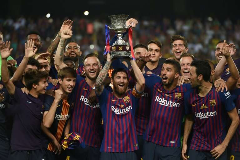 Viewers in the Indian subcontinent will be able to watch for free Barcelona FC, pictured here winning the Spanish Super Cup earl