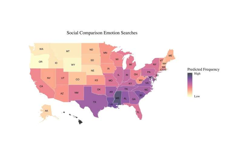 Where you live might influence how you measure up against your peers
