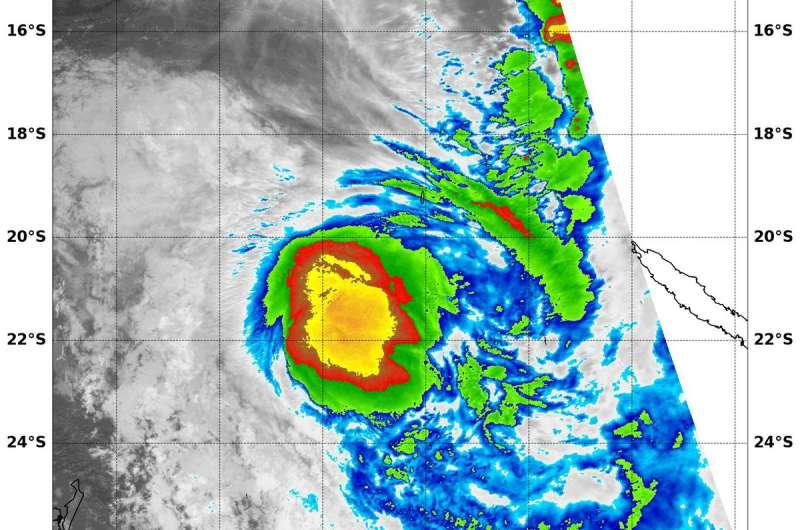 NASA sees Tropical Cyclone Linda lose an 'arm'
