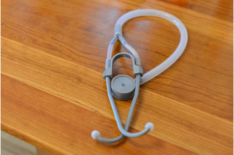 Research team develops clinically-validated 3-D printed stethoscope