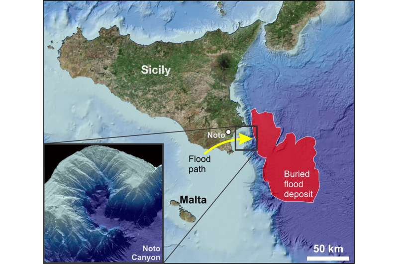 Scientists find new evidences of the megaflood that ended the Messinian Salinity Crisis in the eastern Mediterranean