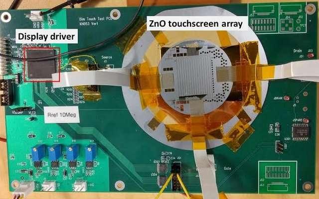 Researchers develop thin, transparent and lightweight touchscreen pressure sensor arrays
