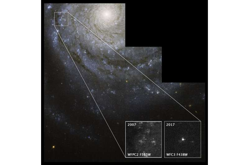 Astronomers find possible elusive star behind supernova