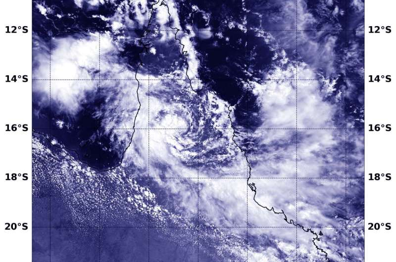 NASA-NOAA satellite sees Tropical Cyclone Owen's remnants reorganizing