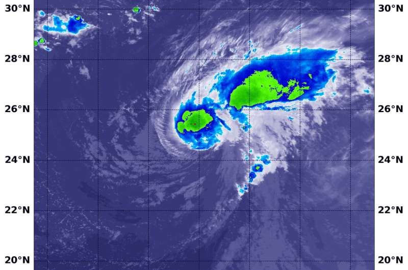 NASA's Aqua satellite finds Florence temporarily fighting wind shear