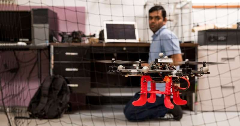 Research team optimizing radiation detection by drone networks